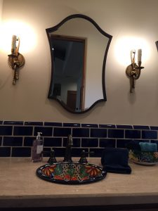 Bathroom One Sink and Mirror