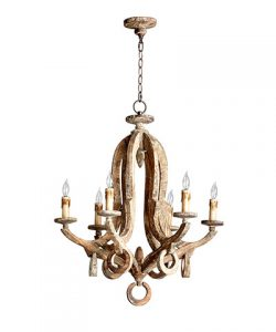 Chandeliers in Game Room