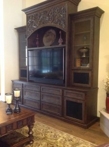 Custom Furniture I designed including drawing out carving