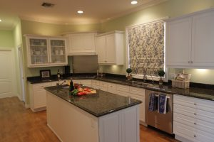 Kitchen Wide Facing Window Shade Down