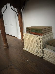 books under entry table